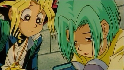Screenshot of Shougo and Yuugi from Yu-Gi-Oh! The Movie
