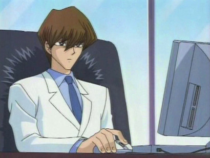 Kaiba hard at work