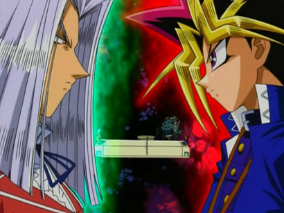 Pegasus and Yuugi facing off in episode 39