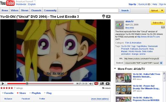 YGO Uncut episode 3 subbed on YouTube