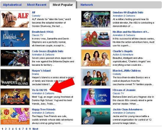 YGO is among the most popular shows on YouTube