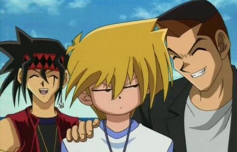 Otogi, Jounouchi, and Honda kidding around in episode 137
