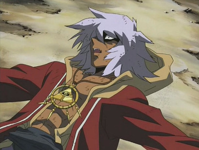 Bakura the King of Thieves suffering in episode 207