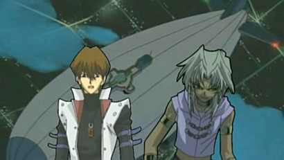 Kaiba and Marik are on a blimp