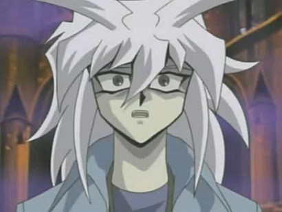 Bakura realizing his Britishness is fading in YGOTAS episode 40