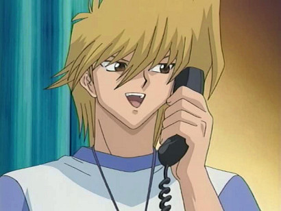 Jounouchi on the phone with Shizuka in episode 148