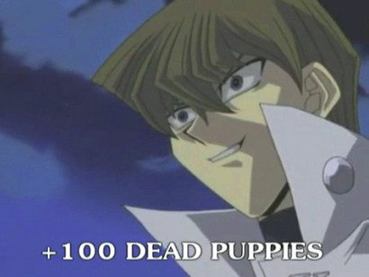 A hundred puppies died because of Kaiba in YGOTAS episode 42