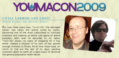 Youmacon 2009's guest list includes Little Kuriboh and Kroze