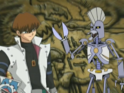 Kaiba and the Cybernetic Ghost of Christmas Past from the Future in YGOTAS episode 44