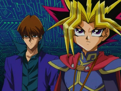 Kaiba and Yuugi looking good and taking care of business in episode 45