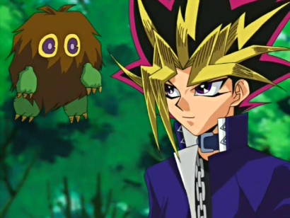 Yami and his Deck Master Kuriboh in episode 101