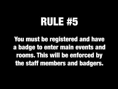 Anime Milwaukee's rule number 5