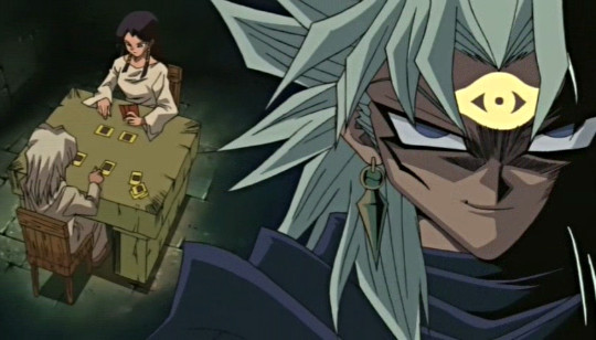 Marik remembers being defeated by Ishizu in a duel when they were children in episode 93