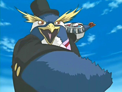 Crump as the Nightmare Penguin Deck Master in episode 103