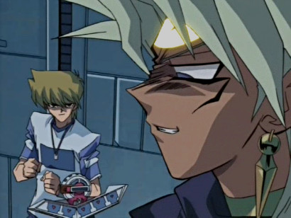 Joey and Marik on the way to their duel in episode 125