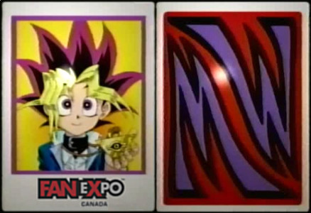 Yu-Gi-Oh! series 1 Magic & Wizards cards with Fan Expo Canada logo