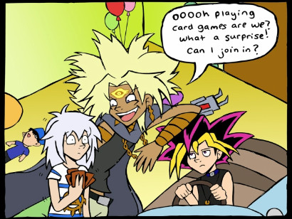 A panel from Fun in Yugi's Mind by indecisivepancake