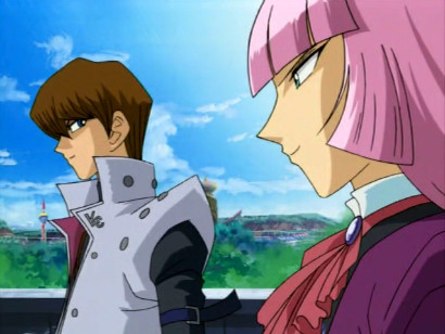 Kaiba and Zigfried talking trash in episode 197