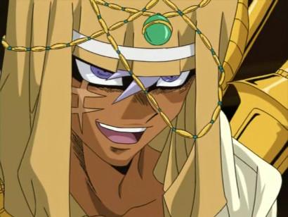 Bakura bringing stolen trinkets to the palace in episode 202