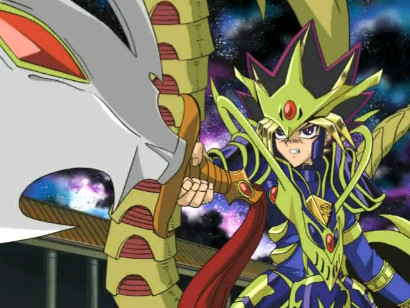 Yugi after merging with the Black Luster Soldier in Capsule Monsters episode 12