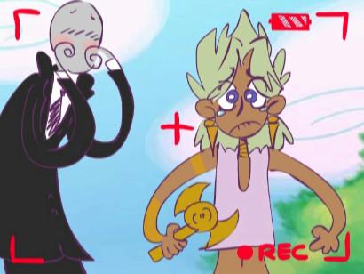 Slender Man and Marik in Little Kuriboh's Concrete Giraffes video