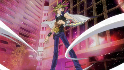 Yami Yugi standing confidently in Yu-Gi-Oh! 3D: Bonds Beyond Time