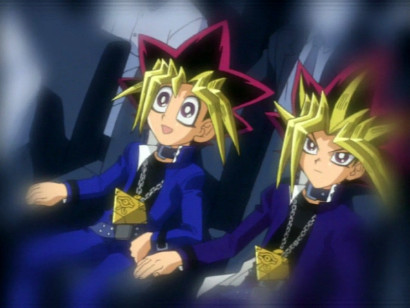 Yugi and Yami at a Broadway play in Tea's dream in episode 102
