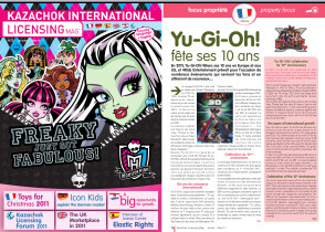 Cover of Kazachok International Licensing Mag' #25 and Yu-Gi-Oh! article