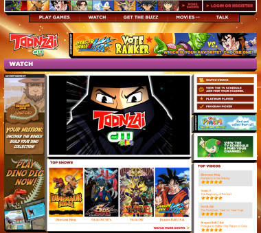 The Toonzai.com Watch page