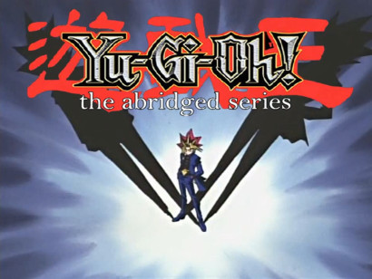 Yu-Gi-Oh: The Abridged Series logo from the episode 54 Cha-la Head Cha-la opening