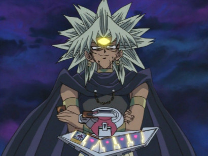Yami Marik, very pleased with himself in his duel against Yugi in episode 138