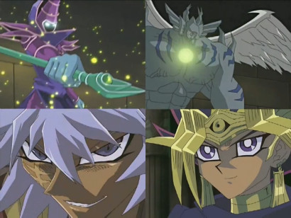 Illusion Magician, Diabound, Thief King Bakura, and Atem in PHARAOH'S THRONE~!