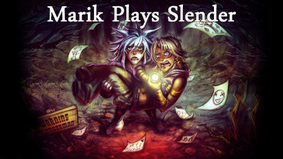 Title card from LK's Marik Plays Slender with artwork by Rivan145th