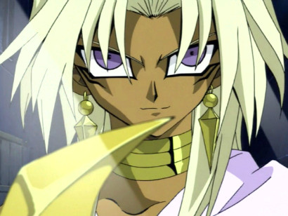 A close-up of Marik Ishtar in episode 69