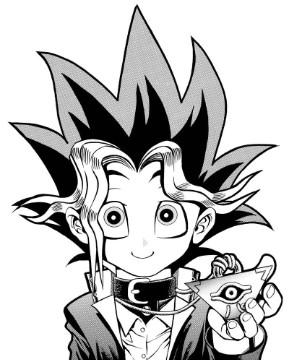 Yugi Mutou in chapter 2 of the original Yu-Gi-Oh! manga