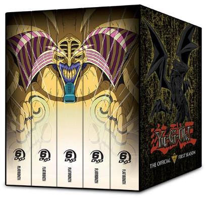 Yu-Gi-Oh! season 1, 2, 3, 4, 5 Cinedigm DVD box spines mock-up