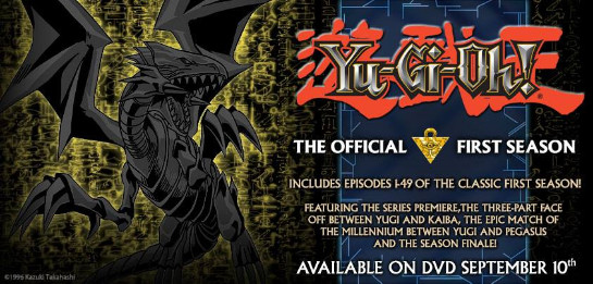 Announcement of the new Yu-Gi-Oh! Season 1 DVDs from the official Yu-Gi-Oh! Fan Page on Facebook