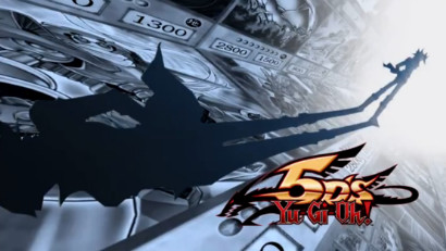 Yusei Fudo and the Yu-Gi-Oh! 5D's logo in the first opening