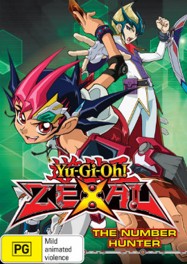 DVD cover of Yu-Gi-Oh! Zexal The Number Hunter from Roadshow Entertainment