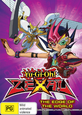 DVD cover of Yu-Gi-Oh! Zexal Volume 4 The Edge of the World from Roadshow Entertainment