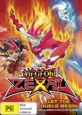 DVD cover artwork of Yu-Gi-Oh! ZEXAL Volume 5 Let The Duels Begin from Roadshow Entertainment
