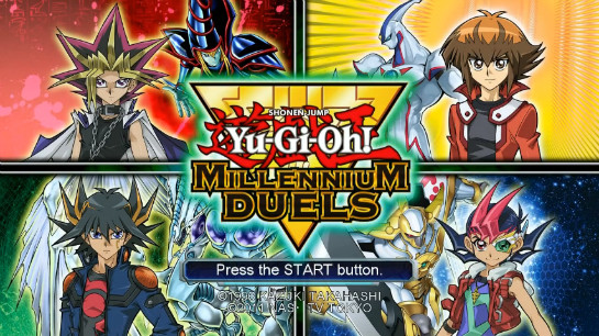 Title screen of Yu-Gi-Oh! Millennium Duels