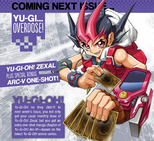 Yu-Gi-Oh! ARC-V one-shot announcement in VIZ Media's Weekly Shonen Jump #25