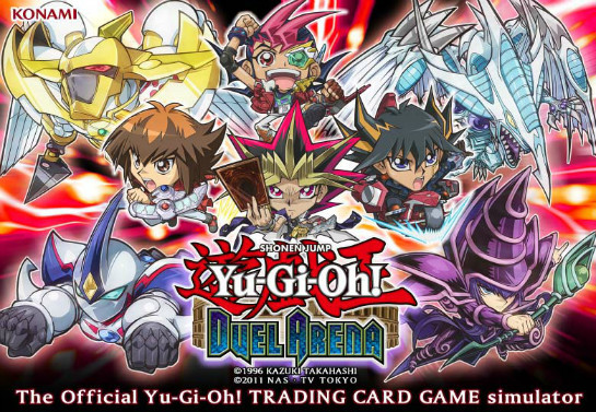 Title screen of Yu-Gi-Oh! Duel Arena