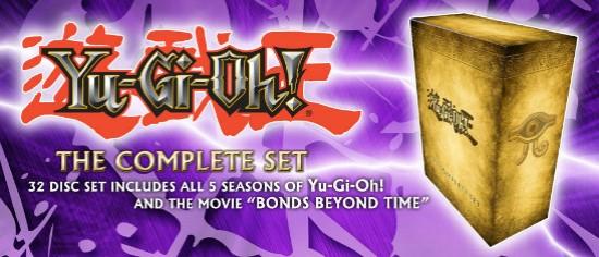 Banner from YUGIOH.com announcing Yu-Gi-Oh! The Complete Set Cinedigm DVD Megaset