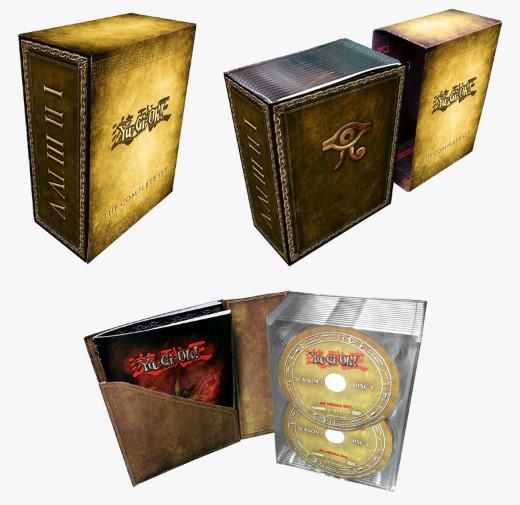 Yu-Gi-Oh! The Complete Set DVD Megaset box design mock-up from Cinedigm
