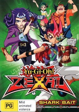 DVD cover artwork of Yu-Gi-Oh! ZEXAL Volume 6 Shark Bait from Roadshow Entertainment