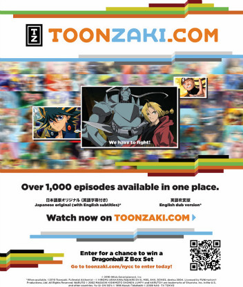 A Toonzaki poster and handout from New York Comic Con 2010
