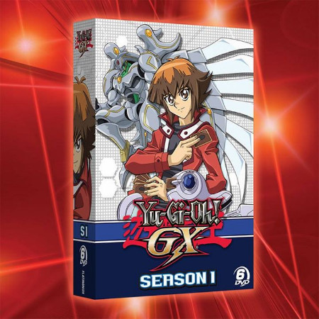 Yu-Gi-Oh! GX season 1 DVD set box mock-up from Cinedigm