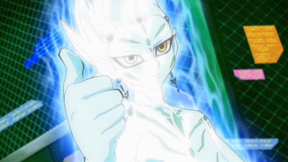 Astral giving Yuma a thumbs-up in ZEXAL episode 28